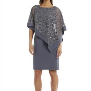 R&M Richards Lace Sequin Formal Dress